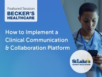 St. Luke's & TigerConnect featured at Beckers